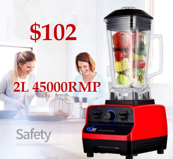 2L  commercial grade home professional smoothies power blender food mixer juicer food fruit processor commercial large diameter juicer machine multifunction smoothies power blender food fruit juice extractor processor eu us plug