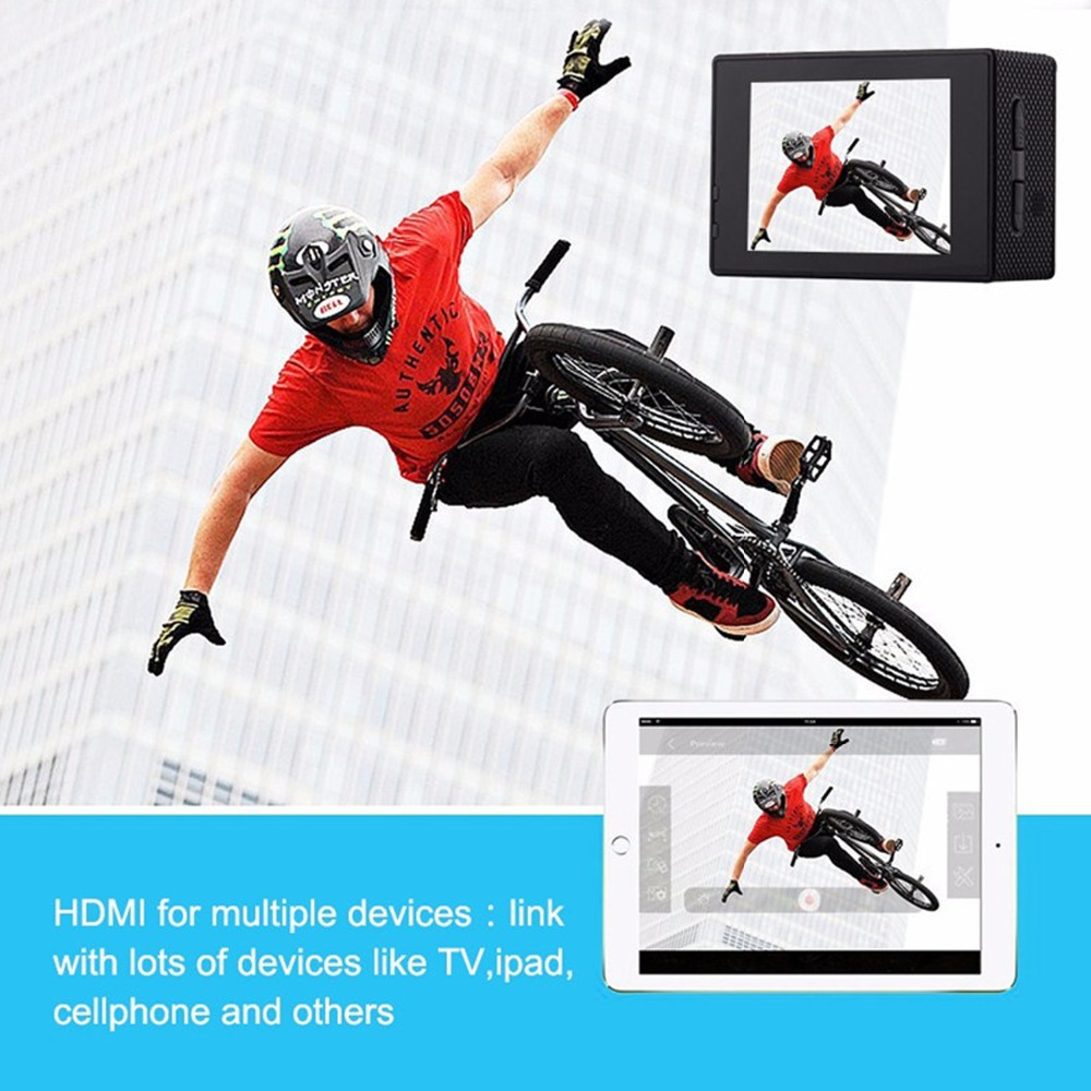 remote 4K Sport Action Camera Full HD WIFI 16MP