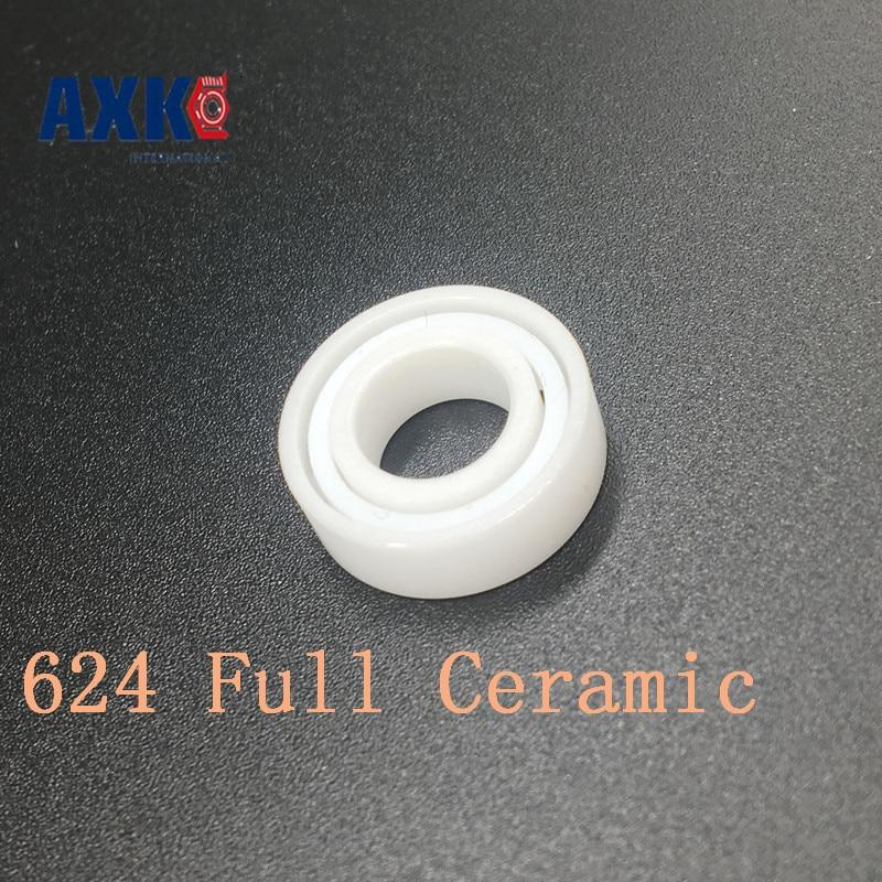 AXK 624 Full Ceramic Bearing ( 1 PC ) 4*13*5 mm ZrO2 Material 624CE All Zirconia Ceramic Ball Bearings 624 si3n4 full ceramic ball bearing 4 13 5mm
