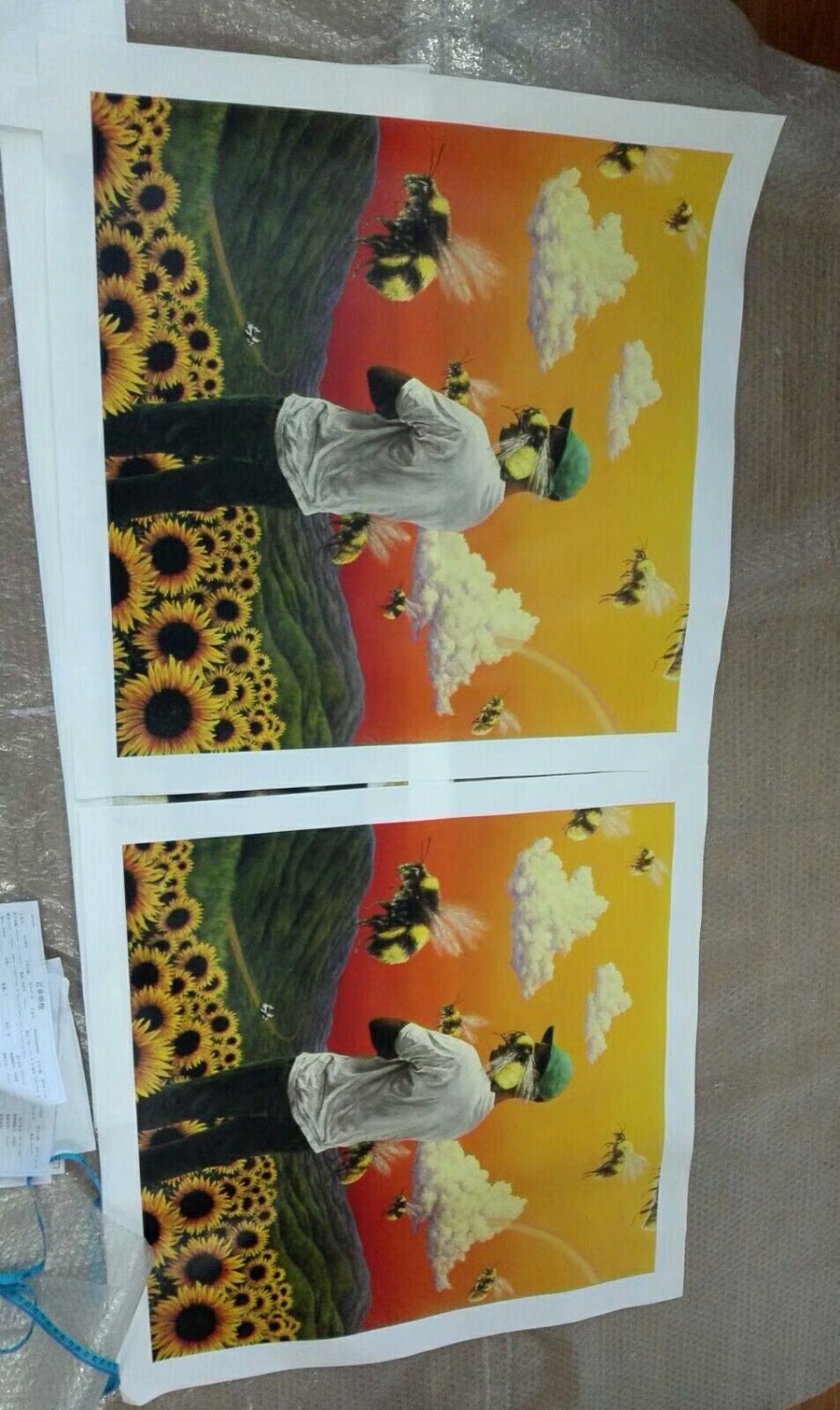 0c714e42c8214f Tyler the Creator Sunflower bee Boy Hip Hop Cover Poster Print Modern  Painting Canvas Pop Art Wall pic Cuadros Decor -in Painting   Calligraphy  from Home ...