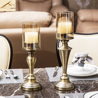 Europe Creative Candlelight Dinner Bar Restaurant Decoration Candle Holders Wedding Candlestick Retrocrystal Glass Candle Holder