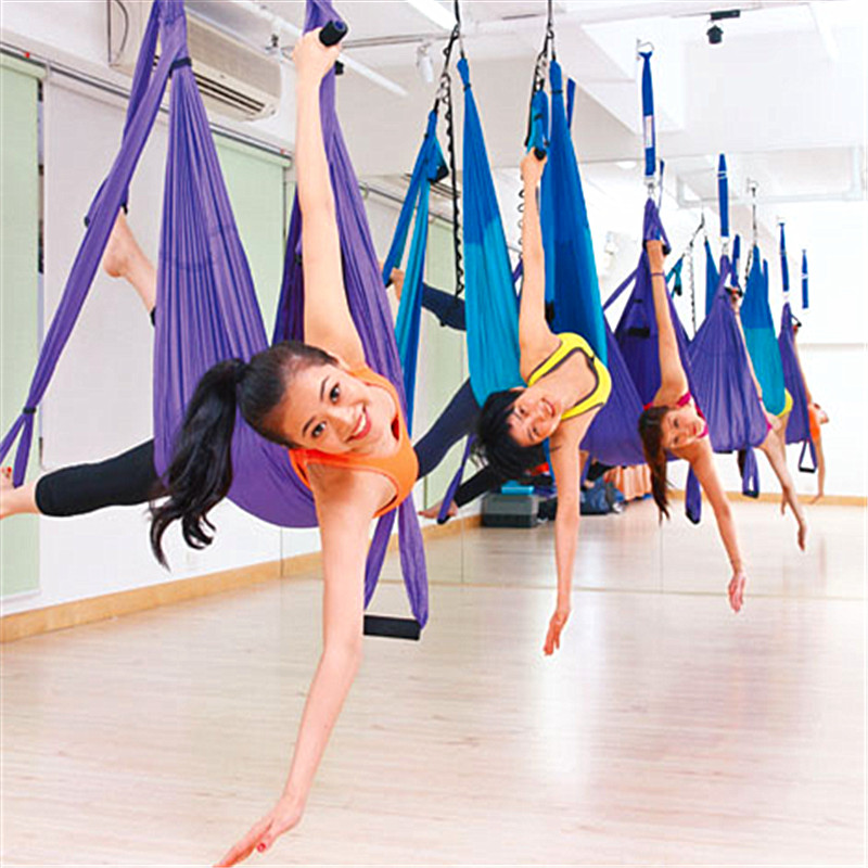 Creative Aerial Yoga Hammock Swing Parachute Fabric Inversion Therapy Anti-gravity High Strength Decompression Hammock Yoga Gym Hanging Low Price Yoga Belts