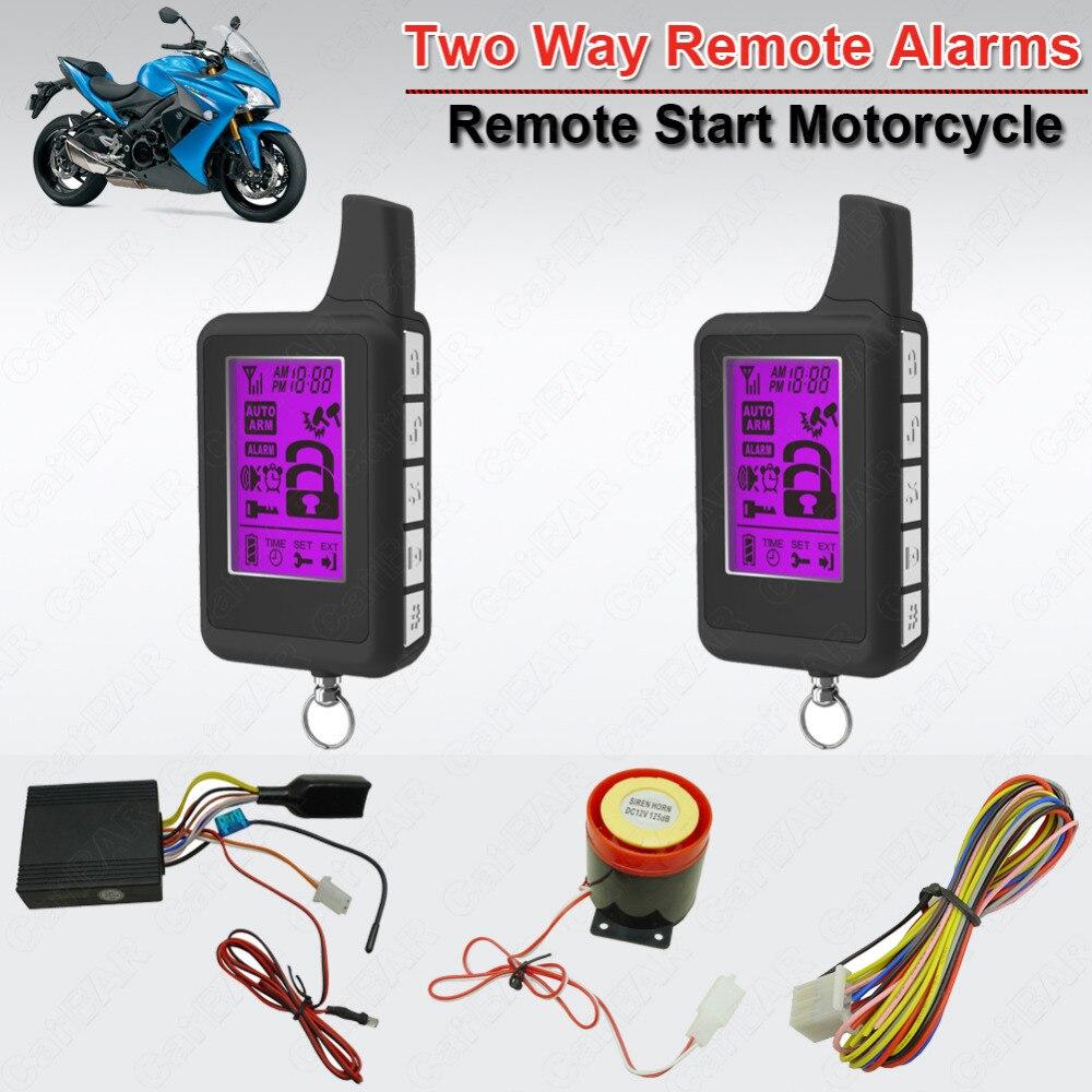 Étanche 2 voies moto moteur alarme bras désarmer ACC alarme indicateur LED démarrage à distance arrêt horloge réglage