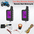 Waterproof 2 Way  Motorcycle Motor Alarm Arm Disarm ACC Alarm LED Indicator Remote Start Stop Time Clock Setting