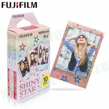 Fujifilm Instax Mini 8 9 Film Shiny Star Fuji Instant Photo Paper 10 Sheets For 70 7s 50s 50i 90 25 Share SP-1 LOMO Cameras(China)