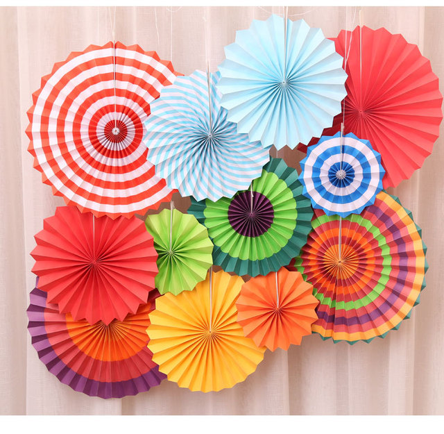 6pcsset 8 12 16 mixed size hanging colorful paper folding fan 6pcsset 8 12 16 mixed size hanging colorful paper folding fan mightylinksfo