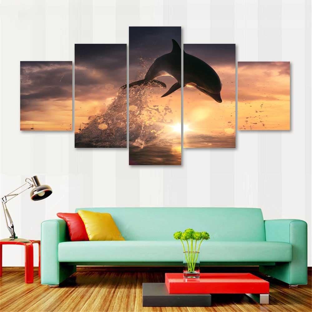 Decoración para el hogar pared arte HD impreso pintura 5 panel ...