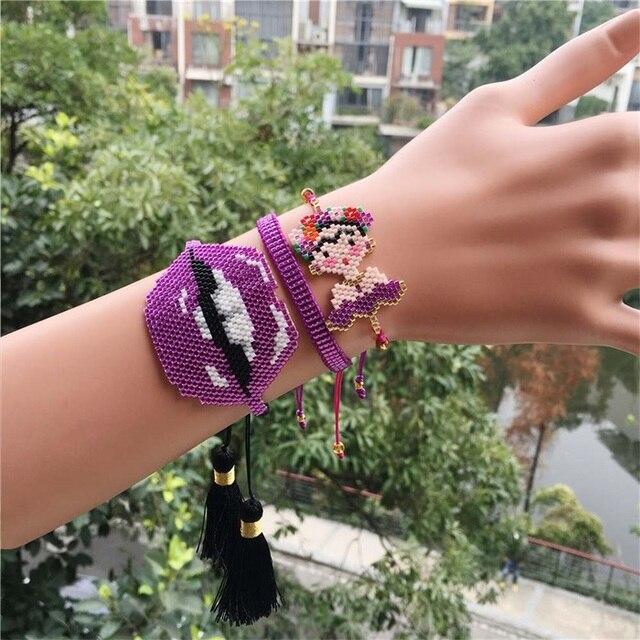 Purple Lips Women's Set...