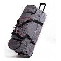 Многофункциональный дорожные сумки прокатки Чемодан Spinner 36 дюймов высокой емкости плечо Чемодан Колеса Тележка багажник