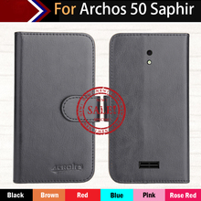 Factory Direct! Archos 50 Saphir Case 6 Colors Ultra-thin Leather Exclusive 100% Special Phone Cover Cases+Tracking factory direct dexp ixion m245 snap case 6 colors luxury ultra thin leather exclusive 100% special phone cover cases tracking