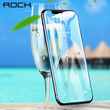 Рок 3D мягкие изогнутые гидрогель Экран протектор для Apple iPhone X, 0,18 мм тонкий полный охват пленка для iPhone X