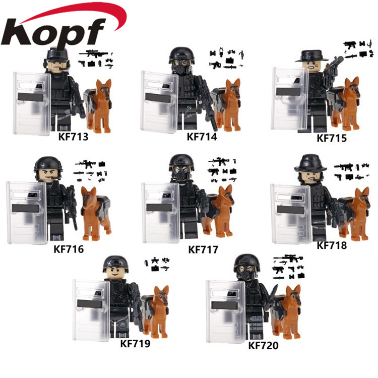 Blocks Singel Sale Legoed Police Action Series Policeman Army Interpol Figures Collection Building Blocks Gift Toys For Children Kf6067 Quality And Quantity Assured Model Building