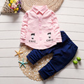 2017 Spring Baby Boys Clothing Set 2 Pieces Single-breasted Shirt+Pant Infant Toddler Outfit Kid Clothes Children Sport Set