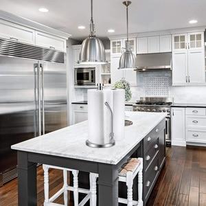 Image 5 - Papieren Handdoek Houder Rvs Staande Tissue Houder Een Hand Tear Perfecte Moderne Ontwerp Voor Keuken Houdt Keukens