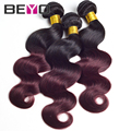 3 шт./лот 100 г/шт. 7А перуанский девственные волосы ломбер девственные волосы ombre наращивание волос перуанский объемная волна бесплатно доставка