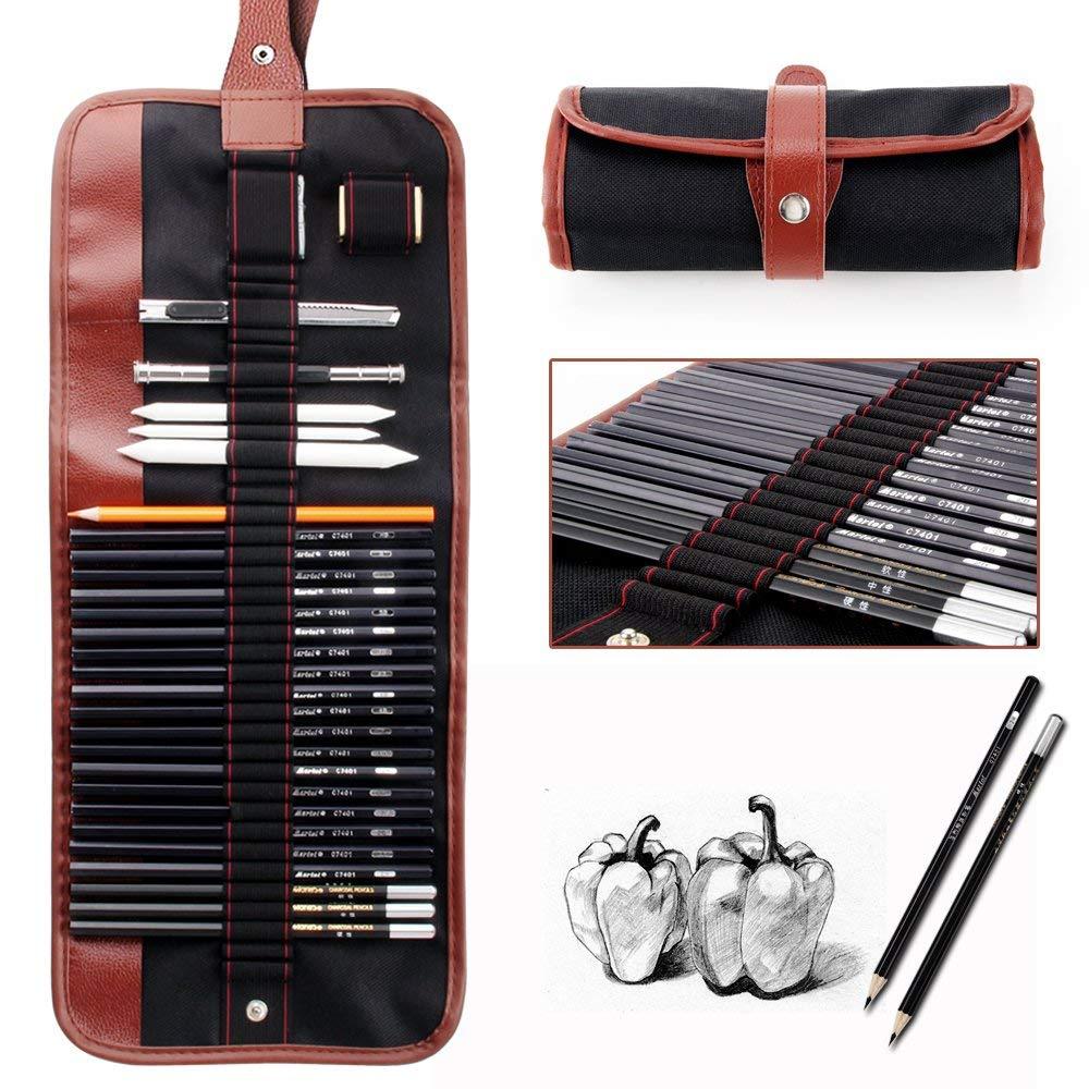 Charcoal Sketch Pen Set Sketching Pencil Eraser Craft Knife Pencils Set lyra художественный набор sketching set 11 предметов