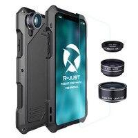 R-JUST étanche Antichoc cas Pour Apple iPhone X 5.8 pouces Cas téléphone Caméra fisheye téléphone sac cas pour IphoneX Dix 10