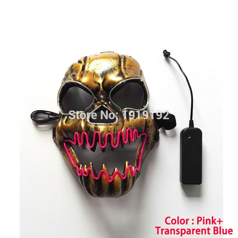 EL žična maska Light Up Neon lobarska LED maska za - Prazniki in zabave - Fotografija 3