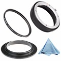 Lens Mount Protect Ring AI-52mm Reverse Adapter Ring+ NEW Rear Lens Mount Protection Ring for Nikon AI+ 52mm UV Protector Filter
