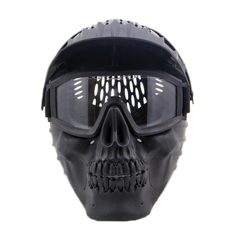 Hot Sale Skull Masks Camouflage Tactical Mask Outdoor Military Wargame Paintball Airsoft Tactical Jungle CS Full Face Mask tactical skull face mask military field us active duty m50 gas mask cs field skull mask for hunting paintball