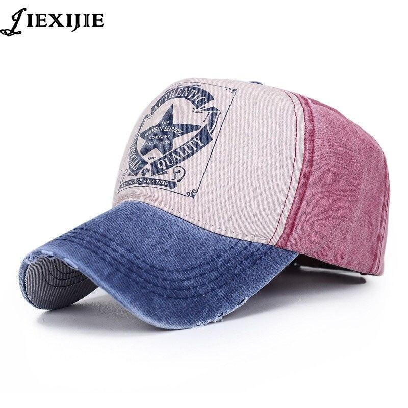Korejský příliv mužské dámy pár klobouk pět hvězd dopis baseballová čepice dívka klobouky pro ženy muži čepice módní potažené bavlněné čepice jxj-286