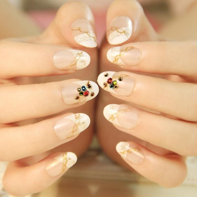 Active Length Office Lady Nail Art Patch Fake False Finger ...