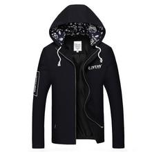 2017 jacke Männer Baumwolle Casual Kapuzenjacke Herren Jacken Und Mäntel Männer Windbreaker Zipper Mäntel Outwear Plus Größe M-XXXL