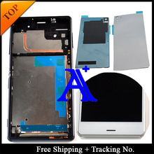 Free shipping 100%Tested For Sony Xperia Z3 LCD D6603 Display Touch Screen Digitizer Assembly with frame +Back Cover – 5.2 inch