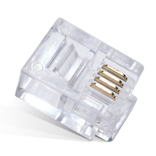 цена на 100Pcs RJ11 6P4C Telephone Internet Modular Plug Jack RJ11 Connector 4pin Telephone crystal head