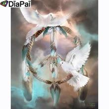 DIAPAI 100% Full Square/Round Drill 5D DIY Diamond Painting Dreamcatcher pigeonDiamond Embroidery Cross Stitch 3D Decor A20872 a1422 diamond embroidery home decor pigeon 100