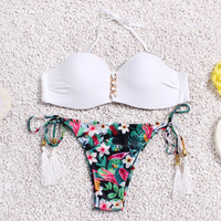 Brazilian Bikini Set String Reversible Bathing Suit Halter High Neck Bikinis Women Swimwear Swimsuit Biquinis Maillot