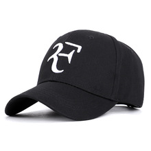 Tennis Star Roger Federer Style F Embroidery Sports Baseball Cap Men Women  Unisex Caps Hat BLACK