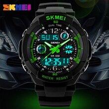 0cb8589628b Homens Relógio Digital de Quartzo Homens Esportes Relógios Relogio masculino  Relojes SKMEI S Choque LED Militar