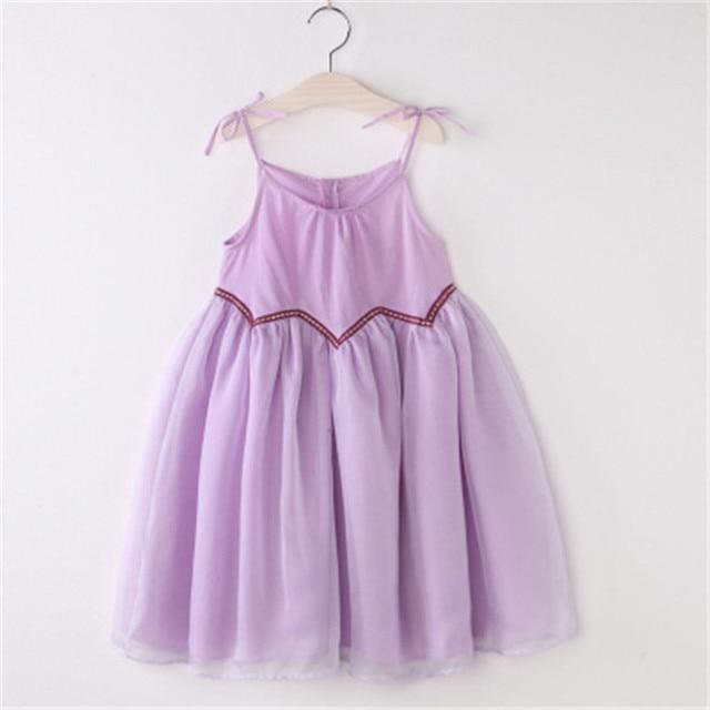 3 8 Years Old Lady Lace Chiffon Princess Beautiful Dresses Baby S Sleeveless Pink Cute