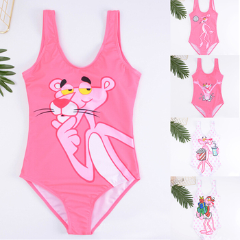 Bikinis 2019 Woman Pink Panther One Piece Swimsuit Push Up Sexy Swimwear Women High Waist Bathing Suit Plus Size Swimsuit Bikini