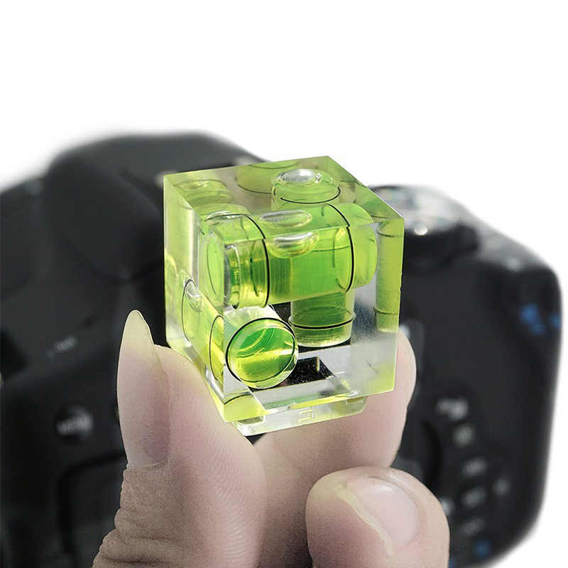 Chaussure chaude 3 axes niveau à bulle fixe niveau à bulle 3D Spirit nivellement précis pour Canon 6D 80D 70D Nikon Pentax DSLR accessoires appareil photo