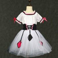 По индивидуальному заказу для девочек балетное платье в Балетные Костюмы Одежда для танцев Napoli балерина сценический костюм Клоун Магия Пыш
