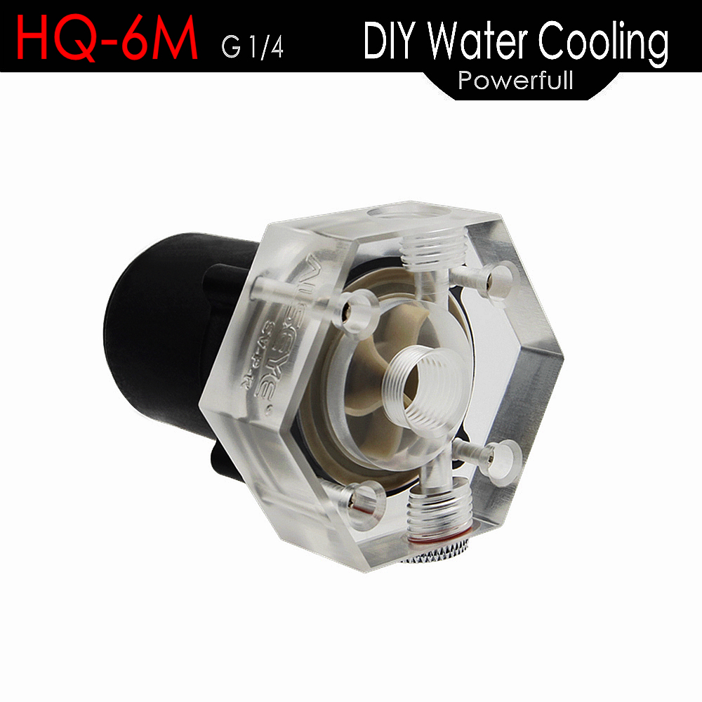 ALSEYE Water Cooling Pump HQ 6M 10000RPM DC 12V DIY CPU Water Cooler Pump G1/4 Thread for Gaming PC CPU and GPU Cooling 6162 63 1015 sa6d170e 6d170 engine water pump for komatsu