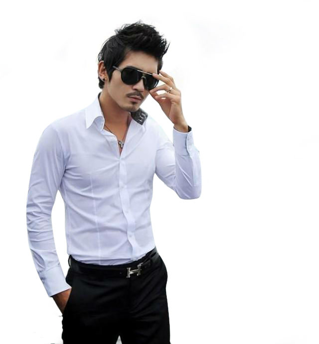a442162fd40a 118 New Men Stylish Casual Slim Fit Long Sleeve Dress Shirt one colour BLACK,WHITE-in  Casual Shirts from Men's Clothing on Aliexpress.com | Alibaba Group