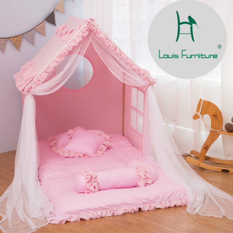 Louis Fashion Children Beds Tent Game House Girl Linen Indoor