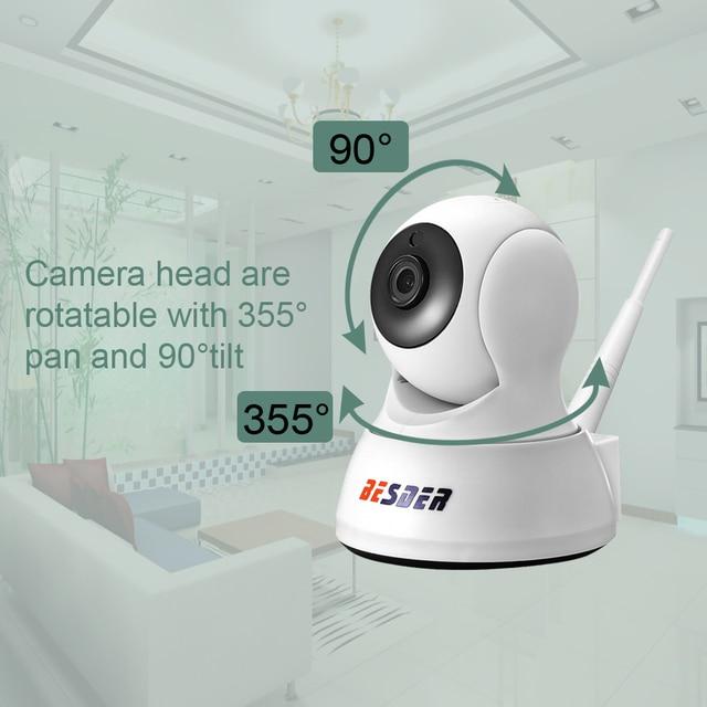 BESDER 1080P 720P Home Security IP Camera Two Way Audio Wireless Mini Camera Night Vision CCTV WiFi Camera Baby Monitor iCsee 2