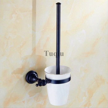 Toilettenreinigungsmittel | Antike Messing & Kristall Wc-bürstenhalter, Schwarz Öl Brushed Wc-bürste Bad Produkte Neuheiten Reinigungsbürste