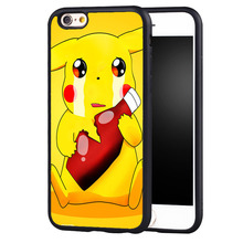 Cute Funny Cartoon Printed Soft Rubber Skin Mobile Phone Cases Bags For iPhone 6 6S Plus SE 5 5S 5C 4 4S Back Shell Cover