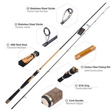 Goture New Brand Carbon Fiber Spinning Fishing Rod Medium Fast Action Travel Casting Rod Lure Fishing Pole 2.1m 2.4m Stick