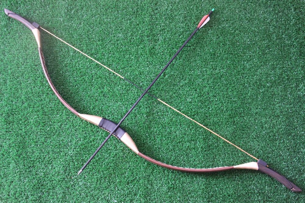 دستباف سنتی Longbow سنتی تکرار کمان 45lb - شکار