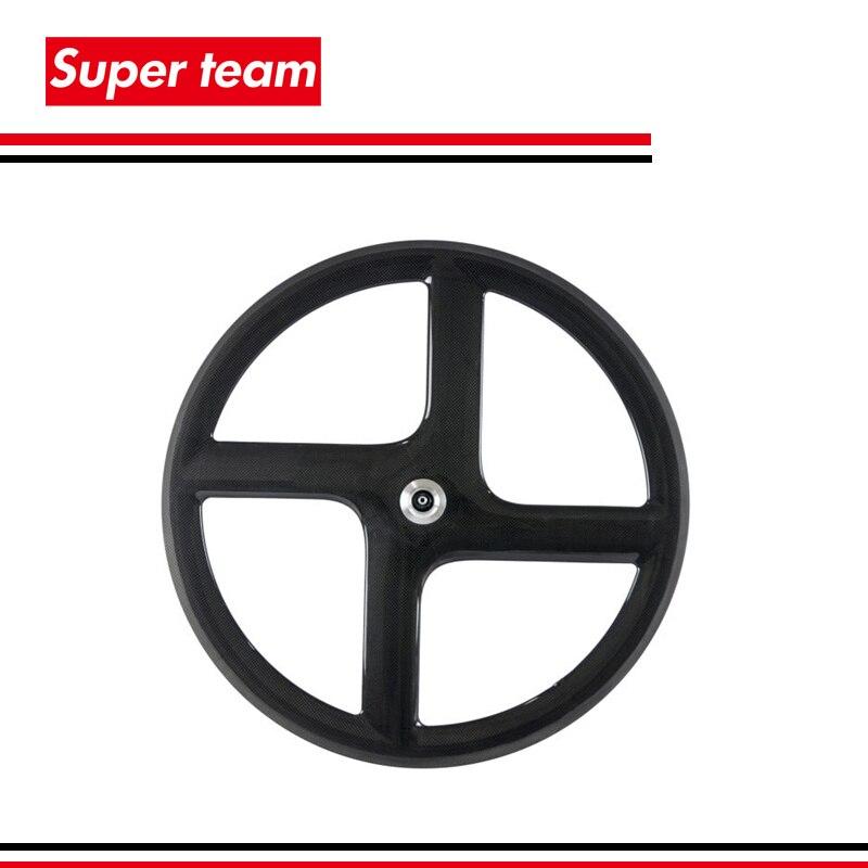 High quantity carbon fiber T700c clincher road bicycle wheelset carbon four spokes wheel