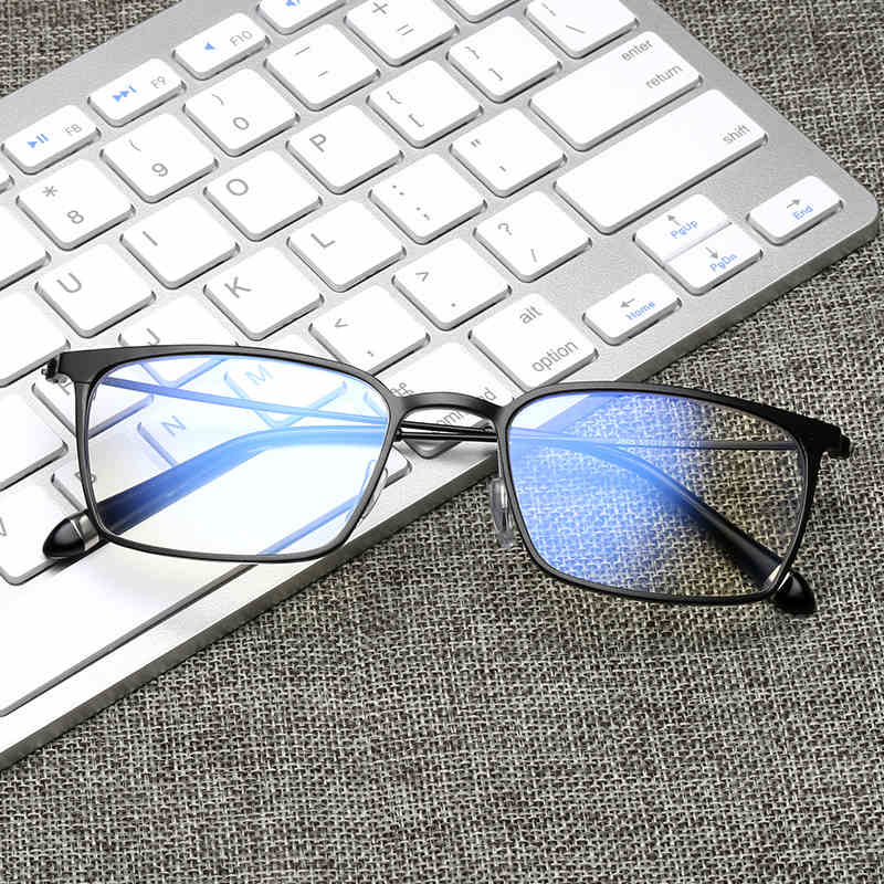 Computer Goggles Anti Blue Laser Ray Fatigue Radiation-resistant Square Glasses Eyeglasses Frame Eyewear J805
