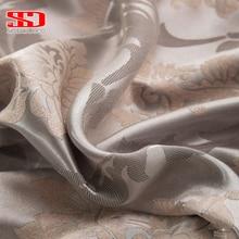 Ткань Элегантные Роскошные затемненные шторы для гостиной розовые жалюзи жаккардовые шторы Дамасская Европейская оконная обработка панели