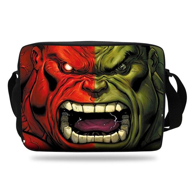 6e1e427eb95a 2017 Kids HULK Messenger Bag Cartoon Shoulder Bag The Avengers Children  Shoulder Messenger Bags For School Girls Boys Teenagers