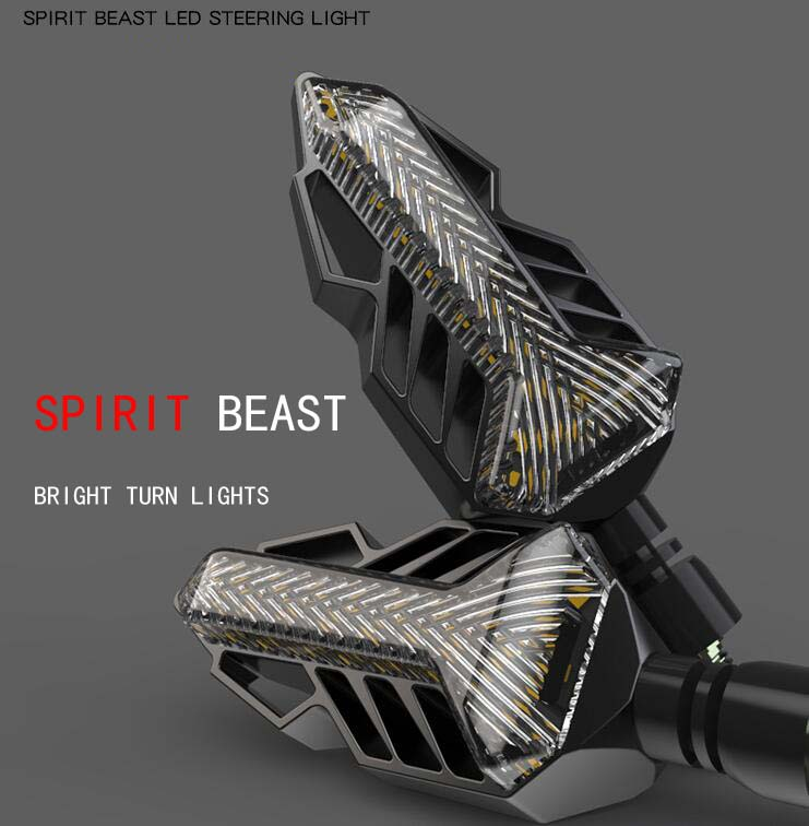 SPIRIT BEAST Motorcycle Signal Lights Modified Lights Waterproof Turn Lights LED Direction Lights Decorative Super Bright